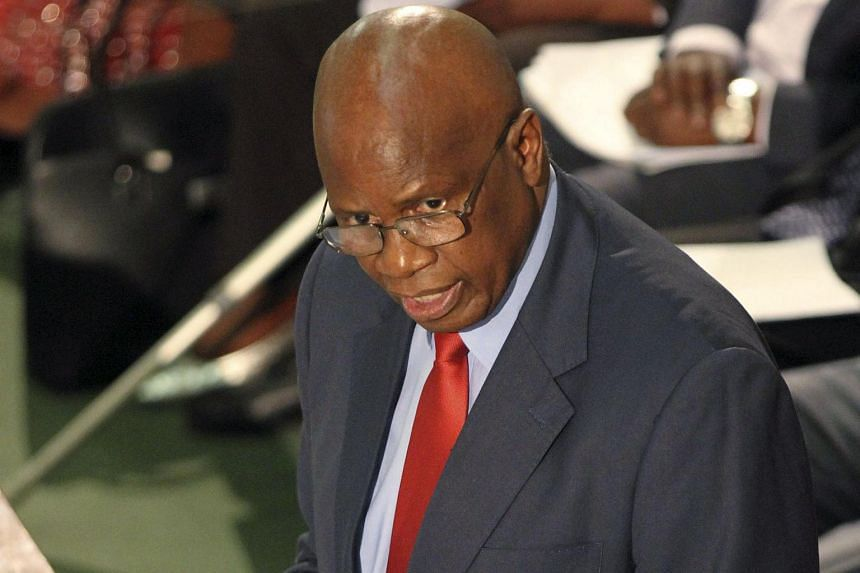 Zimbabwe's Finance Minister Patrick Chinamasa presents the 2016 National Budget in Harare, on Nov 26, 2015. More than 80 per cent of its budget is spent on salaries.