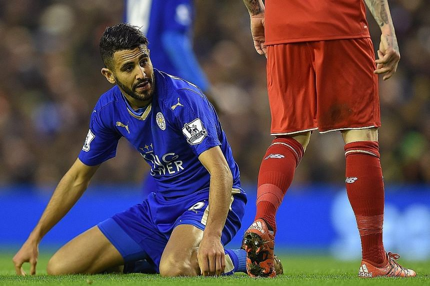 Algerian Riyad Mahrez (above), with 14 league goals, has been a super sidekick to Leicester top scorer Jamie Vardy this season but was totally fatigued by his exertions in the 0-1 loss to Liverpool on Boxing Day. That was just the second defeat of an