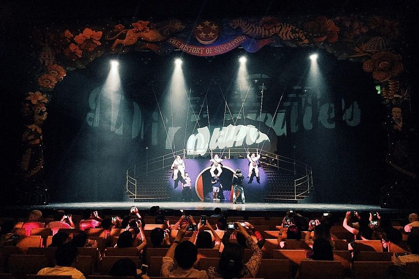 Dream Academy supporters were given a backstage tour of the Dim Sum Dollies production staged earlier this year.