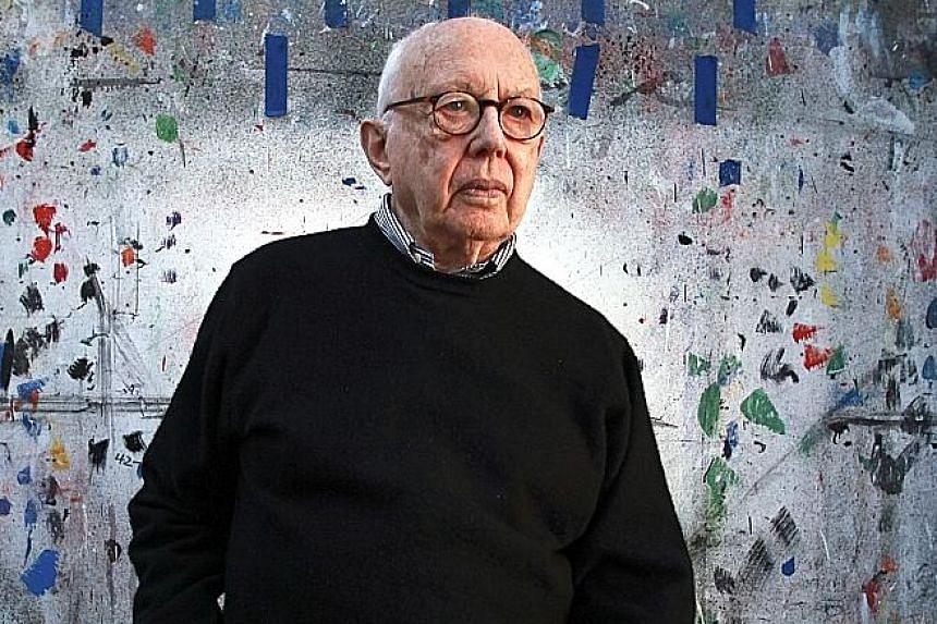 Ellsworth Kelly at his studio in Spencertown, New York, in 2012.