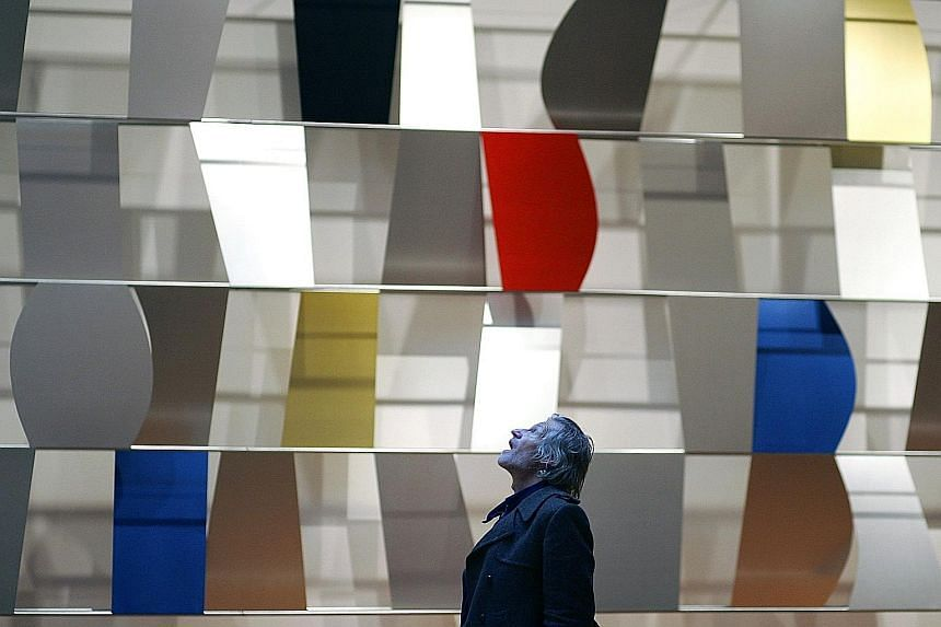 Ellsworth Kelly's Sculpture For A Large Wall (1956-1957) at the Museum of Modern Art in New York in 2004.
