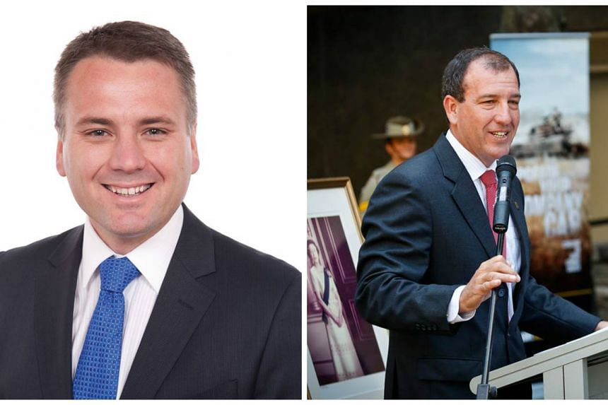 Former Australian MPs, Jamie Briggs (left) and Mal Brough (right).