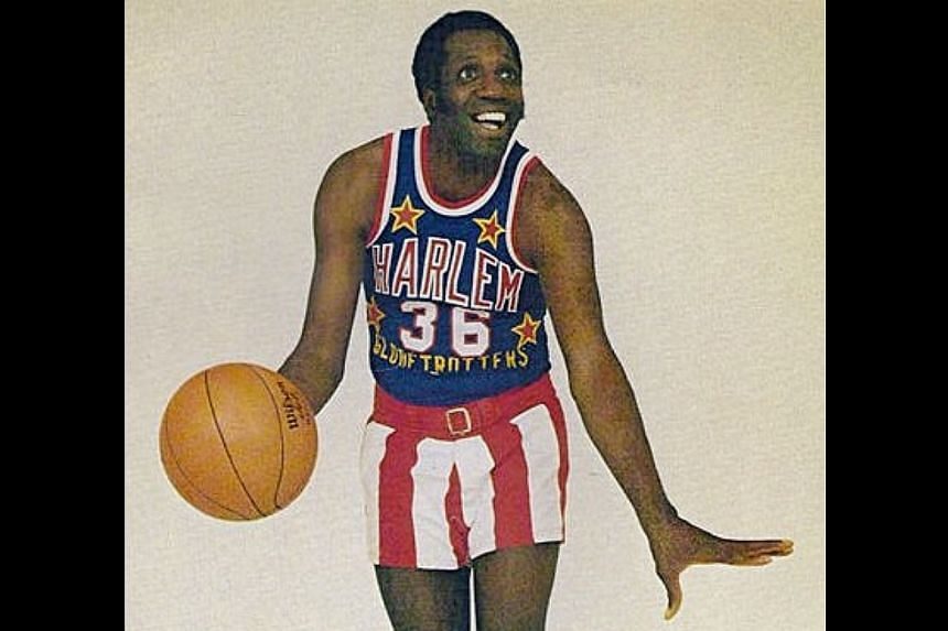 Meadowlark Lemon clowning it up as a member of the Harlem Globetrotters in his prime.