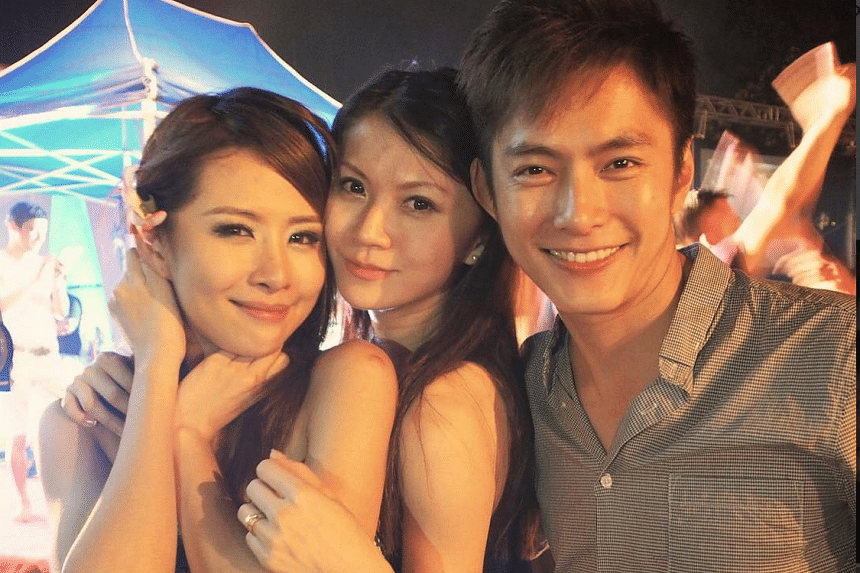 A photo of (from left) Tiffany Leong, Geline See and her husband, Zen Chong.