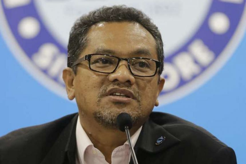 Football Association of Singapore (FAS) president Zainudin Nordin speaks during a post-Annual General Meeting press conference at Japan Besar Stadium on Dec 29, 2015.