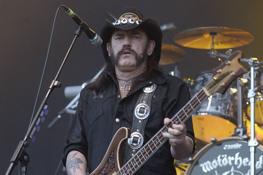 Motorhead singer and bassist Ian Fraser Kilmister in a 2013 photo.