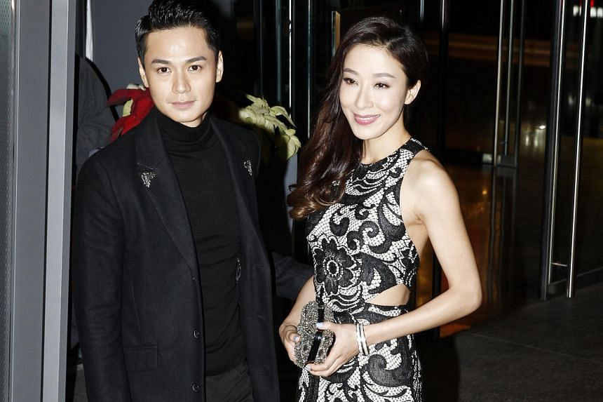 The wedding of Myolie Wu and Philip Lee on Monday was attended by TVB stars including Kevin Cheng and Grace Chan and Tavia Yeung and Him Law (both above).