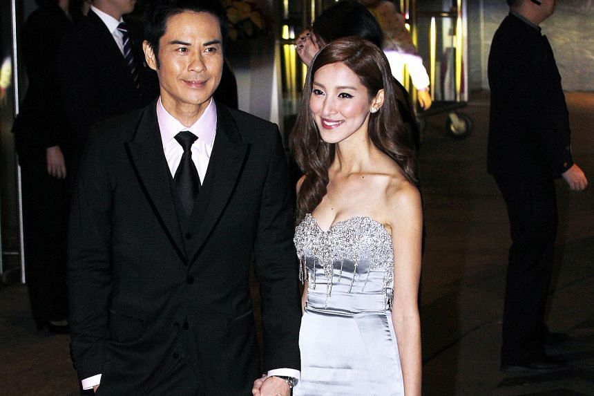 The wedding of Myolie Wu and Philip Lee on Monday was attended by TVB stars including Kevin Cheng and Grace Chan (both above) and Tavia Yeung and Him Law.