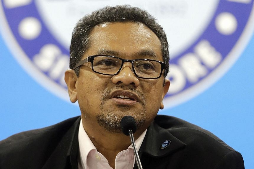 FAS president Zainudin Nordin speaking to the media at a news conference after its annual general meeting. He said that the FAS needs revitalisation and a succession plan.