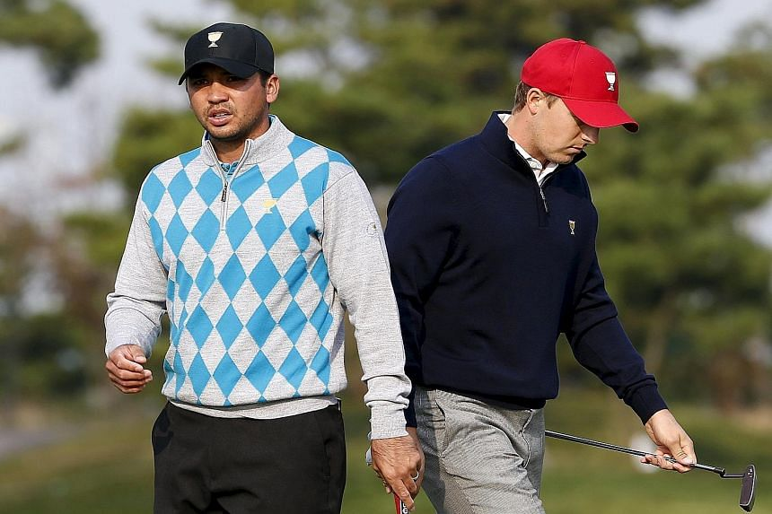Jordan Spieth (right) and Jason Day both enjoyed a breakthrough season, with the world No. 1 spot changing hands between them and Rory McIlroy eight times this year.