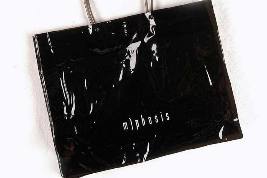 A bag bearing the label of fashion brand M)phosis.
