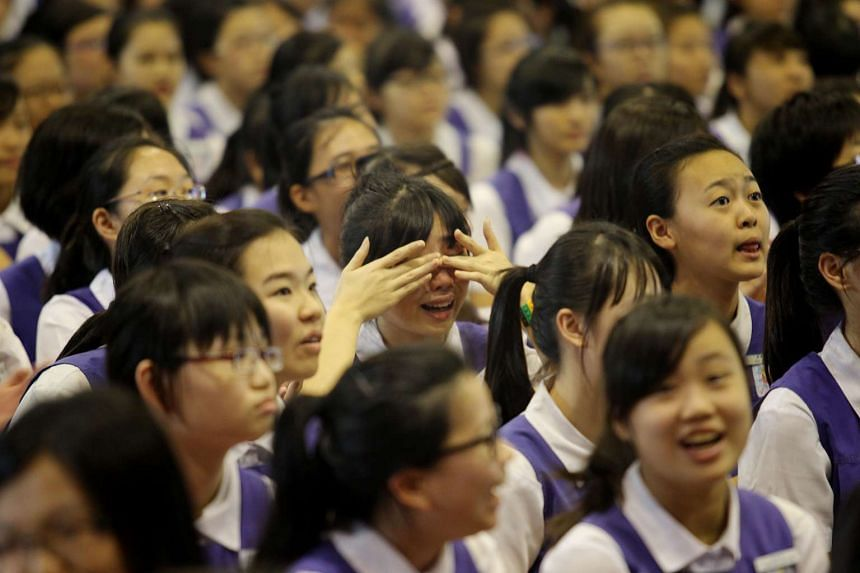 The new JC will take in Integrated Programme students from Catholic High School, CHIJ St Nicholas Girls' School (pictured) and Singapore Chinese Girls' School.
