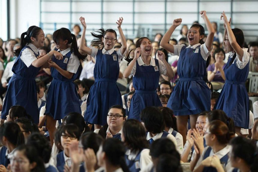Eunoia JC will be taking in students from CHIJ St Nicholas Girls' School (pictured), Catholic High School and Singapore Chinese Girls' School.