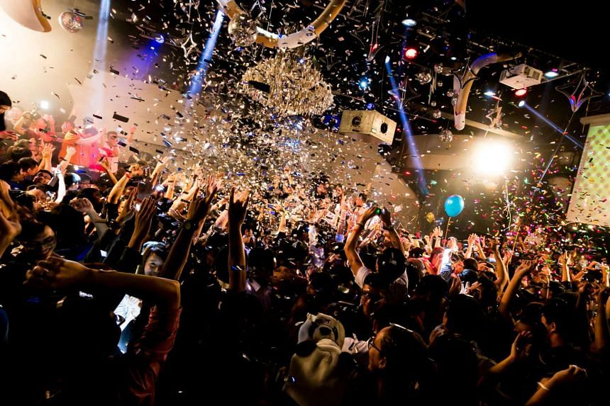 Revellers at the Zouk countdown party in 2014.