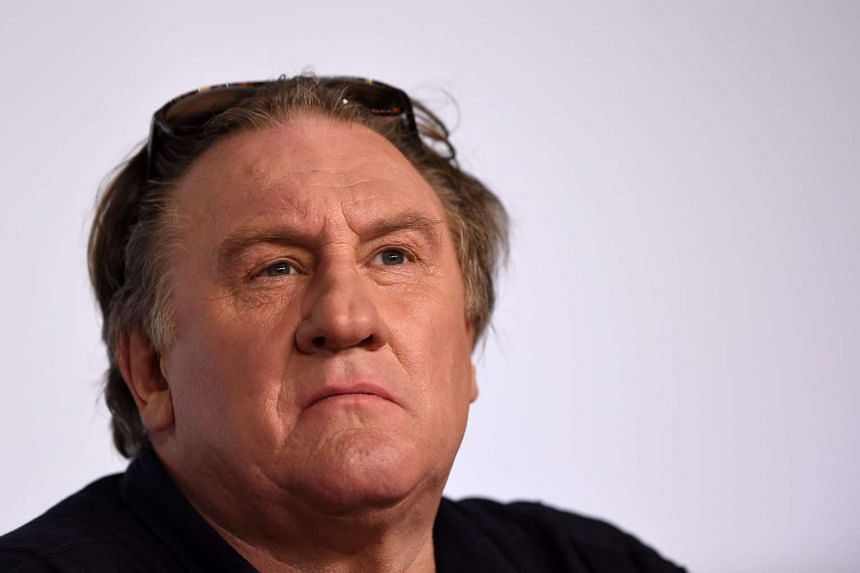 A picture taken on May 22 shows French actor Gerard Depardieu attending a press conference at the 68th Cannes Film Festival.