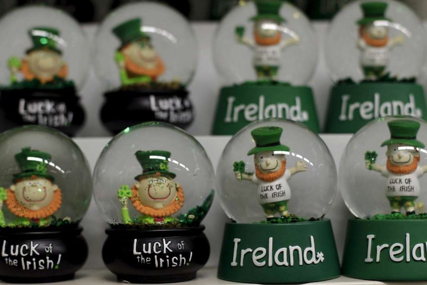Ornaments are displayed at a gift shop in Dublin. Ireland's economy grew by 7 per cent in the third quarter this year - faster than China.