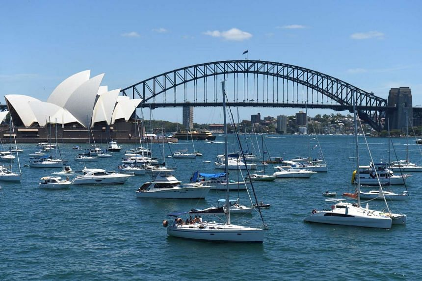 Yachts and boats gather at Farm Cove in Sydney Harbour for best views of the New Year's Eve fireworks.