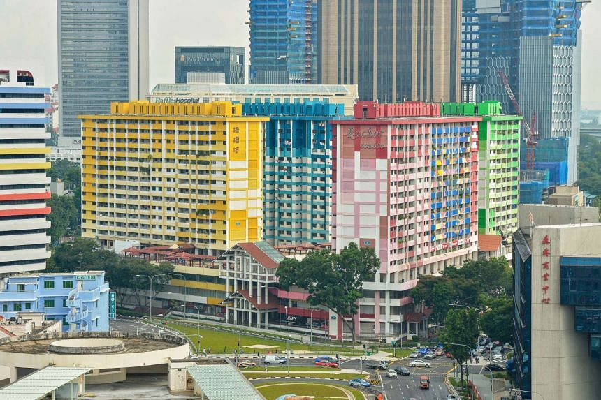 Rochor Centre as seen from Tekka Market. The residential and commerical estate will be demolished to make way for the upcoming North-South Expressway in 2016.