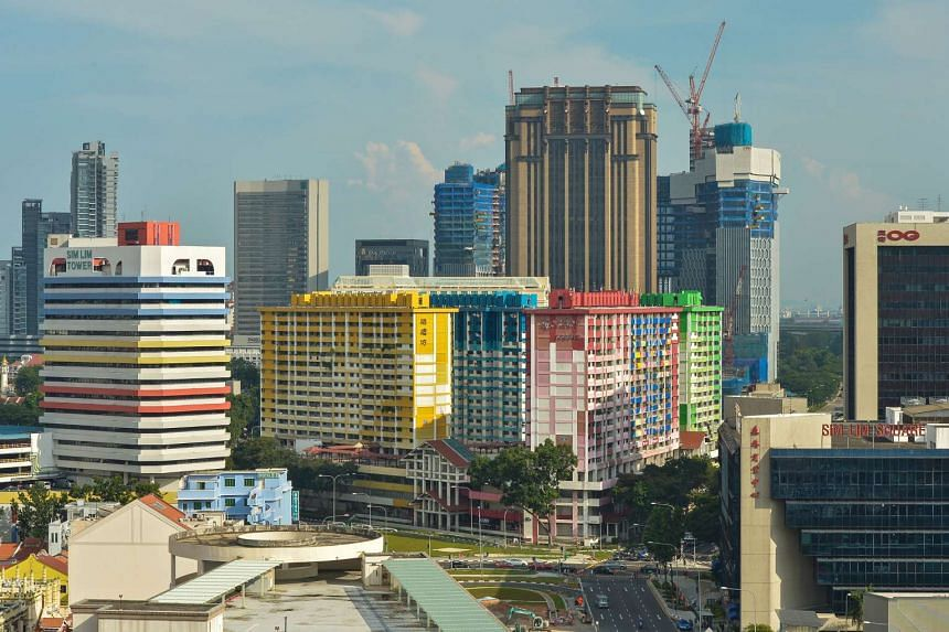 Rochor Centre as seen from Tekka Market. The residential and commercial estate will be demolished to make way for the upcoming North-South Expressway in 2016.
