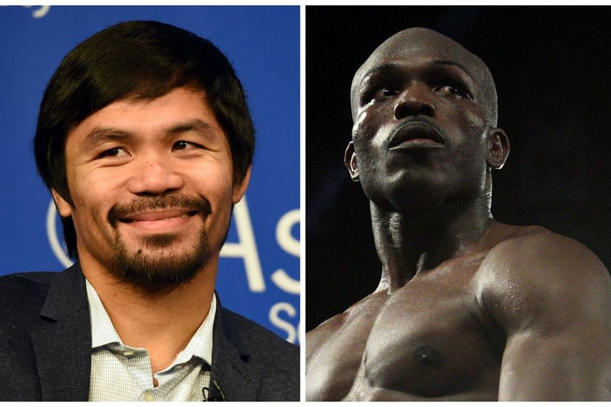 Manny Pacquiao (left) will take on Timothy Bradley (right) for a third time on April 9.