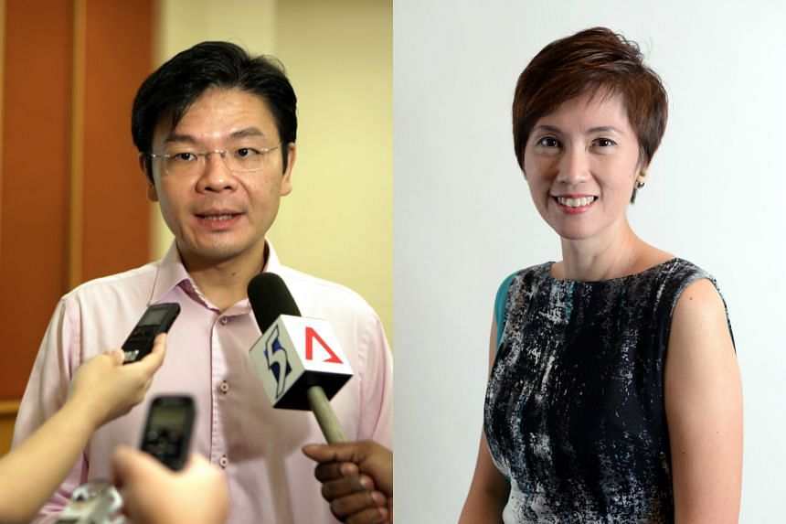 Mr Lawrence Wong(left) will be chairman of the PAP Community Foundation council of management, while Mrs Josephine Teo(right) will take over from Mr Wong as chairman of the PCF executive committee.