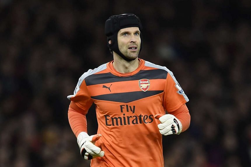 Arsenal's Petr Cech during the match with Manchester city on Dec 22, 2015.