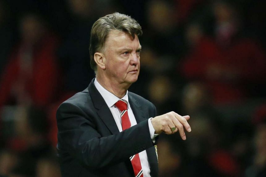 Manchester United's manager Louis van Gaal looks dejected during the match against Chelsea.