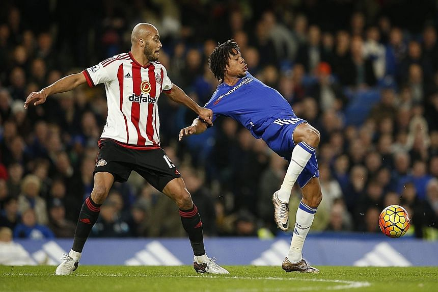 Loic Remy in action against Sunderland. The France striker has started only seven Premier League games in 18 months for Chelsea and is said to be frustrated about his lack of opportunities at Stamford Bridge.