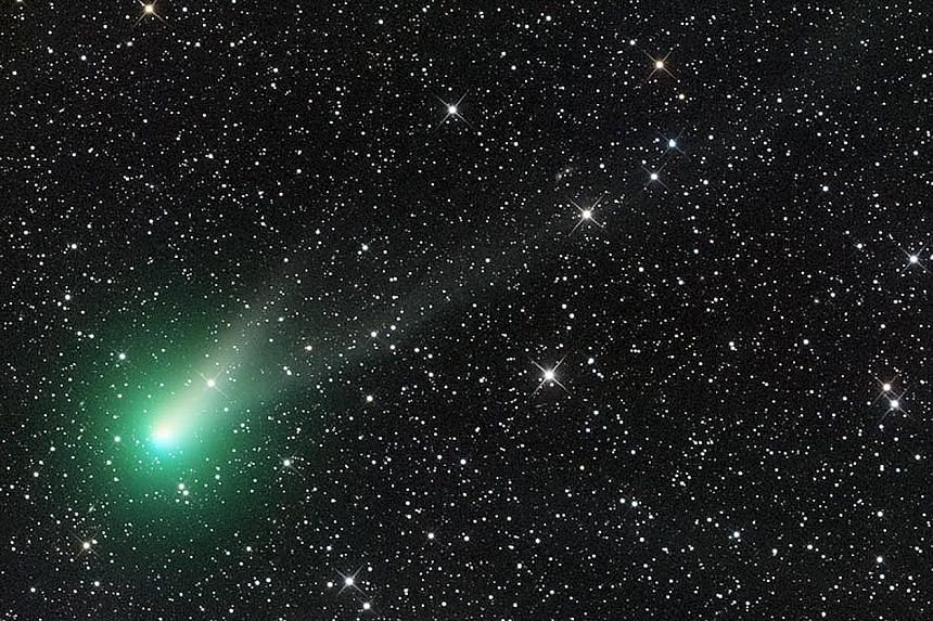 The Comet Catalina captured in all its dazzling glory by avid astronomy photographer Ian Sharp. First discovered in 2013, the comet has since brightened, making it visible with binoculars. The celestial object whose body is made up of an ice and dust