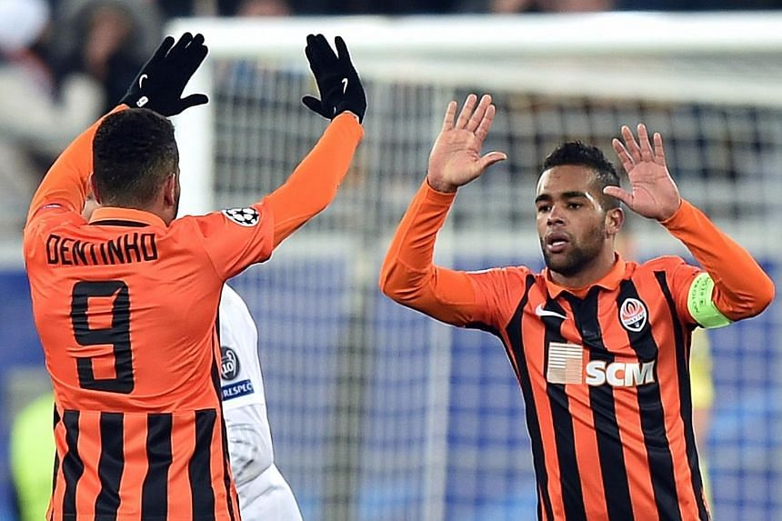 Tottenham's English winger Andros Townsend is in the sights of both Newcastle and West Bromwich, while Alex Teixeira (above), Ukrainian side Shakhtar's Brazilian attacking midfielder, is being targeted by Chelsea to shore up their misfiring front lin