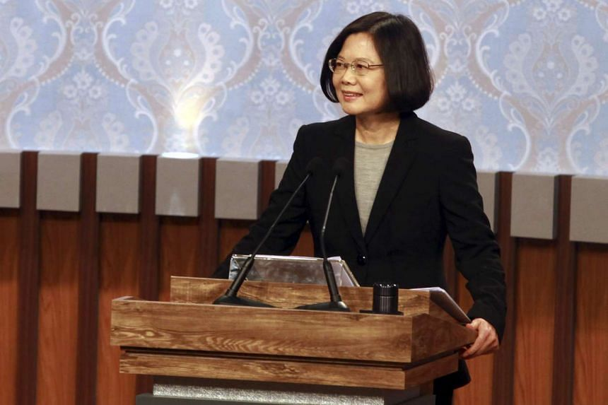 Taiwan's 2016 presidential election candidate Tsai Ing-wen of the Democratic Progressive Party.