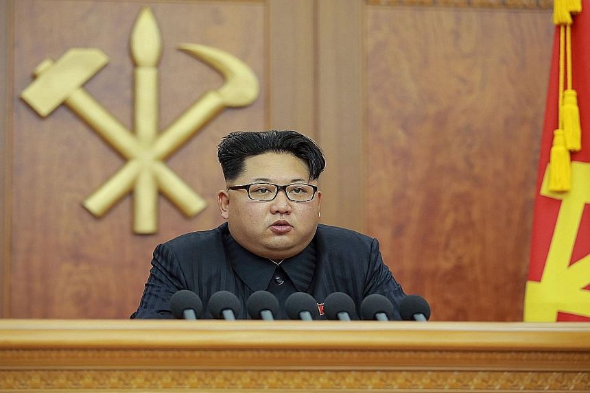 Mr Kim Jong Un during his New Year address in which he said his top priority was raising living standards.
