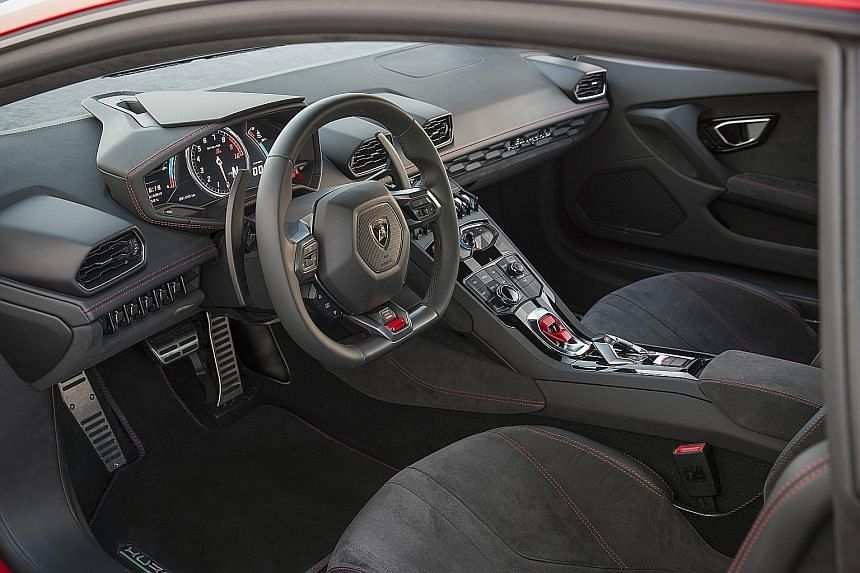The Lamborghini Huracan LP 580-2 offers three driving modes, with the Sport mode the most satisfying.