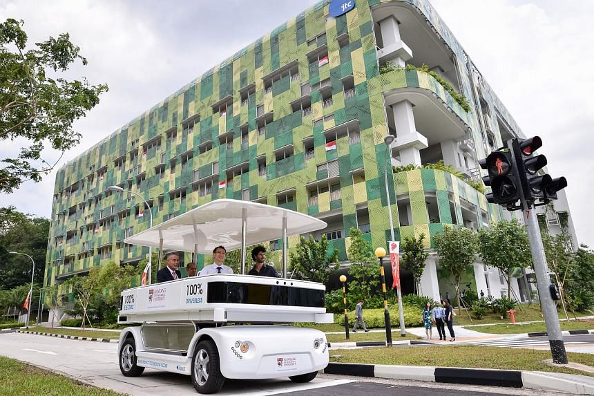 The first driverless vehicle trial in Singapore started in August 2014, with NTU testing a shuttle with French driverless carmaker Navya.