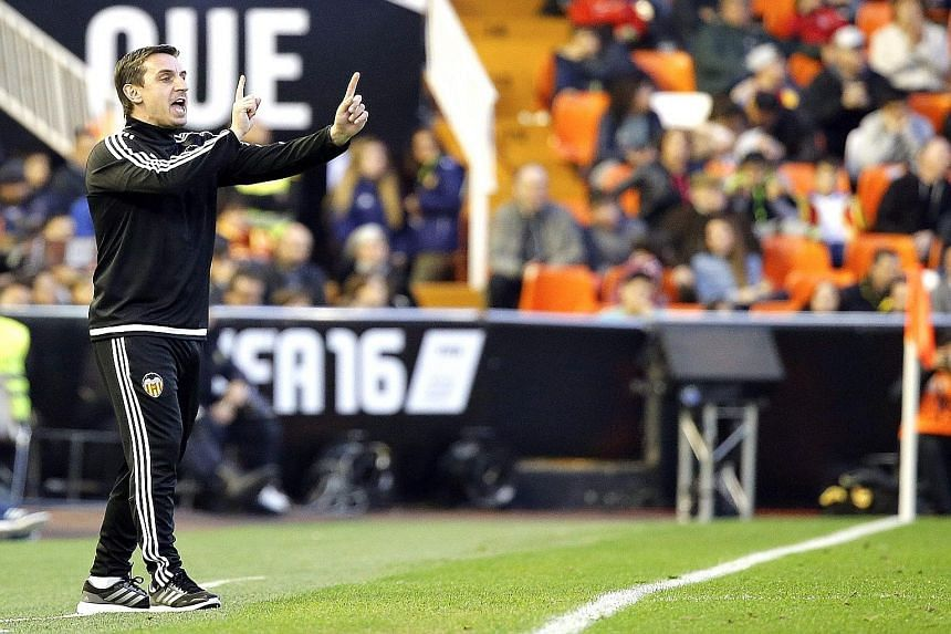 Gary Neville is still seeking his first win for Valencia after two draws and a defeat in La Liga. He took over as head coach last month.