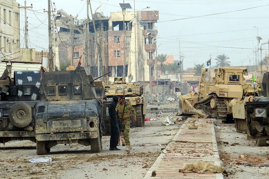 Pro-government Iraqi forces yesterday battling militants in a bid to secure all areas in Ramadi, the capital of Iraq's Anbar province. The army said the militants are no longer in a position to fight and retake Ramadi.