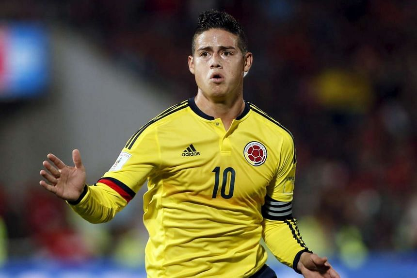 James Rodriguez was pursued by an unmarked police car to the club's training ground.