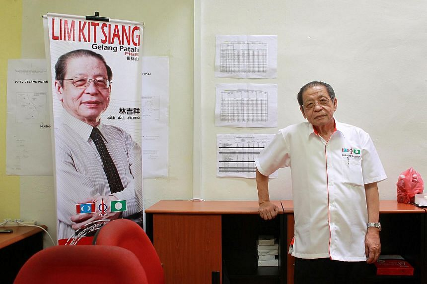 Malaysia's opposition Democratic Action Party leader Lim Kit Siang at the party's branch office in Skudai on Apr 26, 2013.