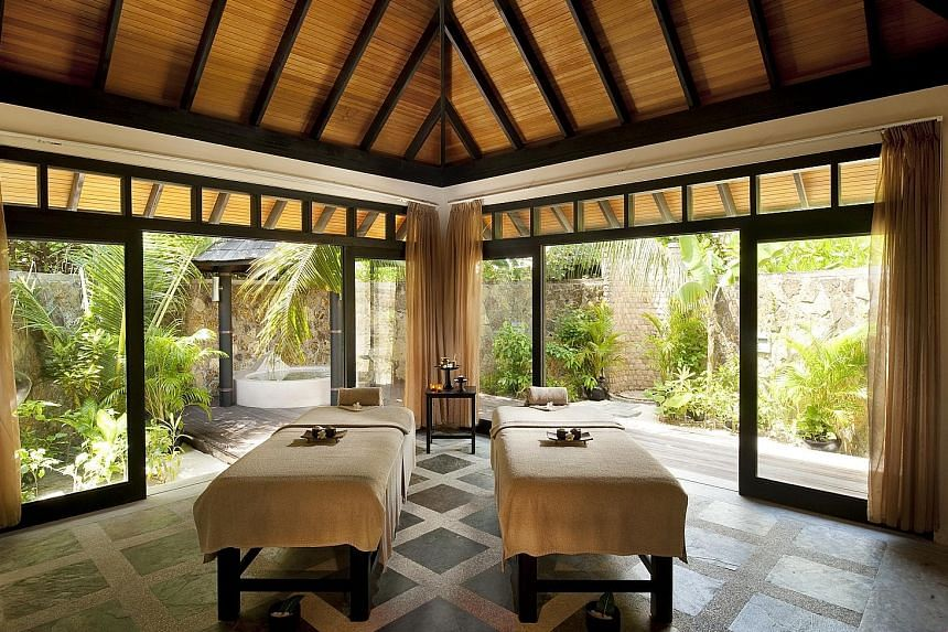 The Spa by Thalgo's wellness packages include massages, taiji, yoga, aromatherapy, body wraps and special meals.
