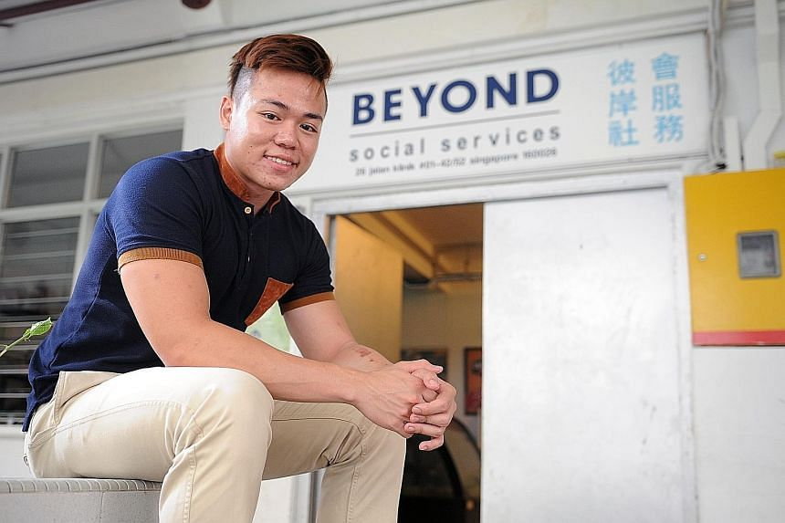Every week, Mr Ng heads to Beyond Social Services and meets teenagers from low-income families whom he mentors. When he finishes his 25 hours of community work, he intends to use his $5,000 cash grant for a university exchange programme.