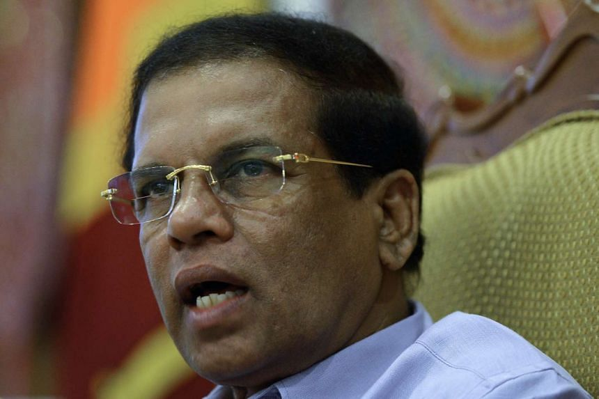 Sri Lankan President Maithripala Sirisena speaks to an AFP journalist during an interview in Colombo on Sunday.