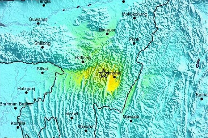 A strong 6.8-magnitude earthquake struck north-east India near the country's borders with Myanmar and Bangladesh early Monday (Jan 4).