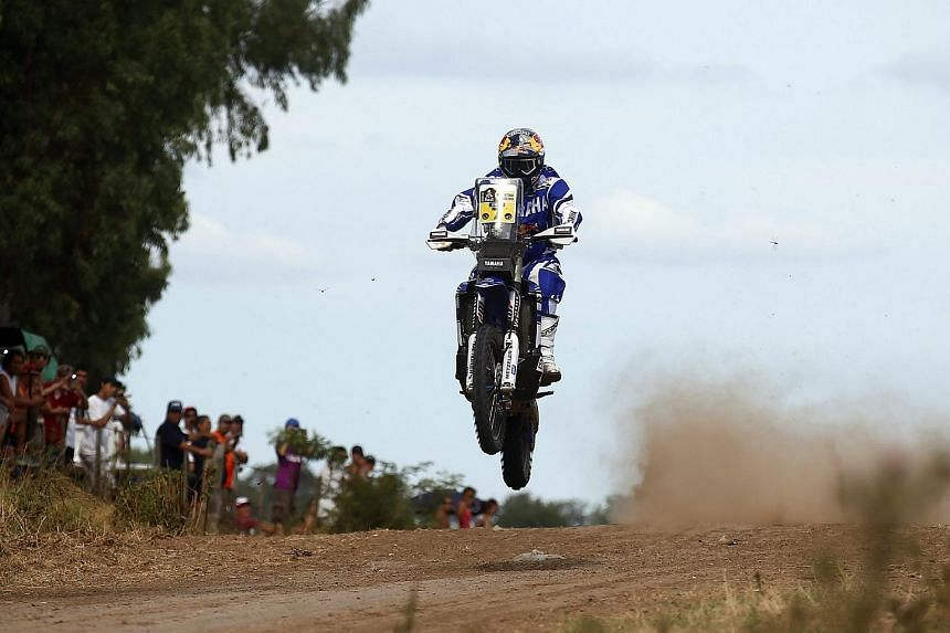 Portuguese Helder Rodrigues during the prologue stage of the 2016 Dakar Rally in Argentina on Jan 2.