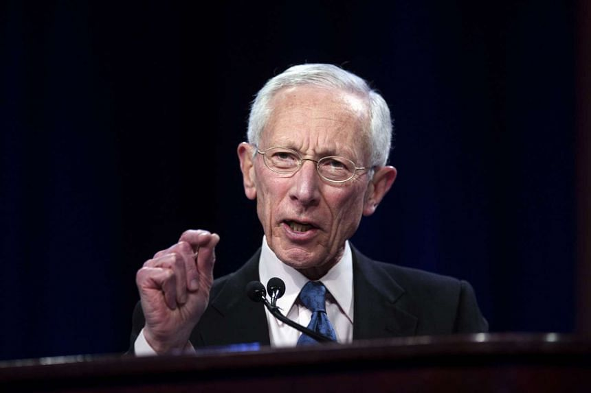 Stanley Fischer, vice chairman of the US Federal Reserve, speaks during an event on March 23, 2015.