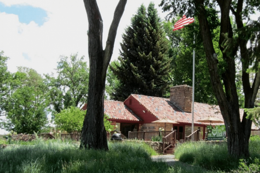 A photo believed to show the US National Wildlife Refuge building in Oregon taken over by armed militia.