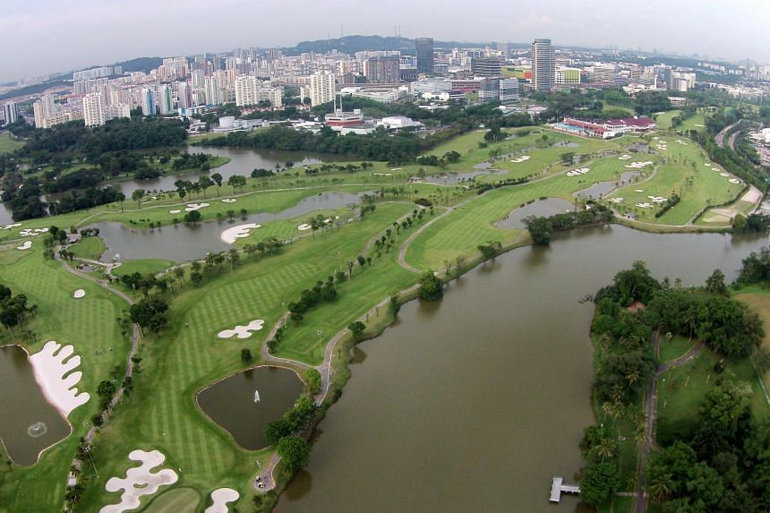 An aerial view of Jurong Country Club, where the high-speed rail terminus will be located.