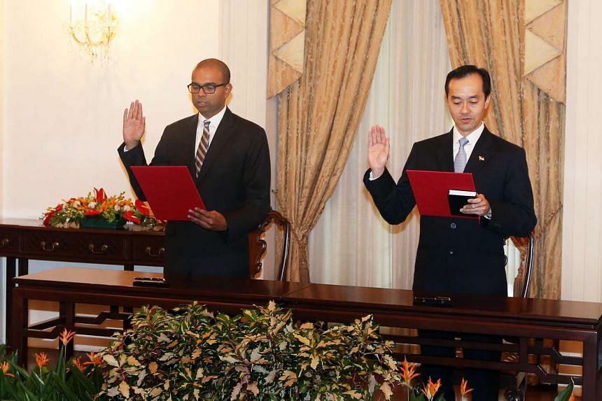 Swearing-In Ceremony of Ministers of State Dr Koh Poh Koon and Dr Janil Puthucheary.