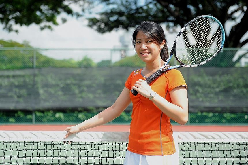 Ms Chow says playing tennis improves one's metabolic function and lowers the resting heart rate and blood pressure. Her love for sports, including badminton, track and field and netball, also helped her to stay fit during her school days.