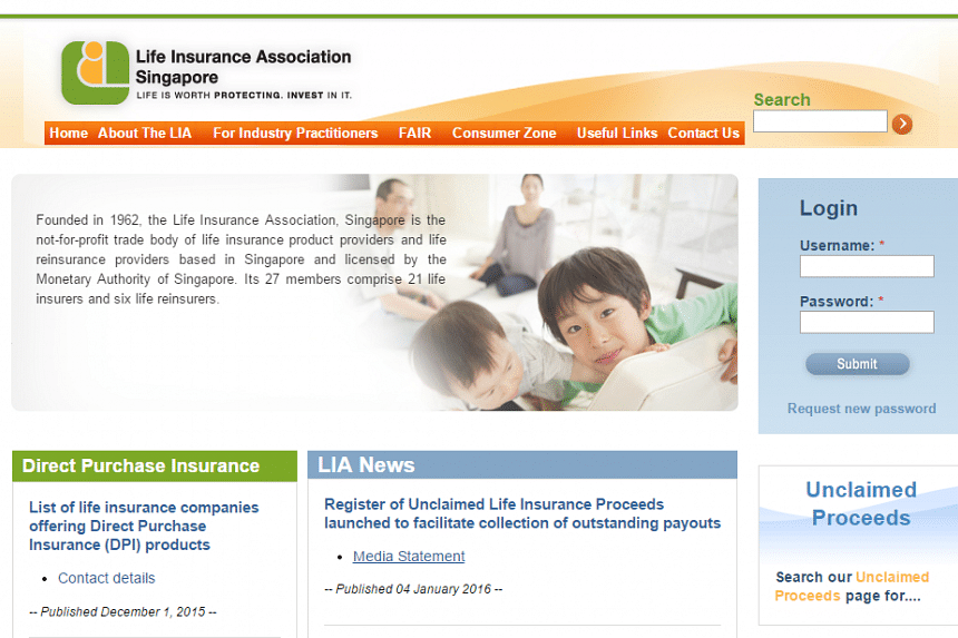 The Life Insurance Association of Singapore (LIA Singapore) says that the site is back up online for the public to access.