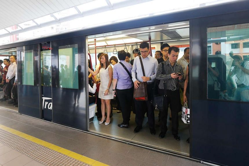 The Sengkang loop of the Sengkang-Punggol LRT is now officially operating with two-car trains.